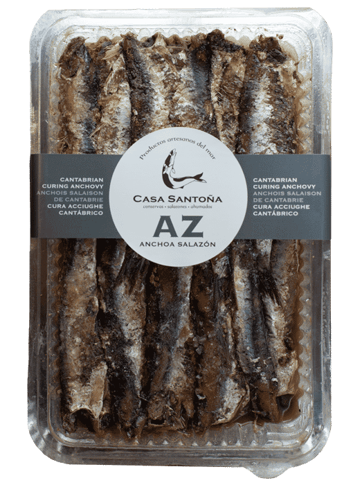 tarrina de anchoas en salazón